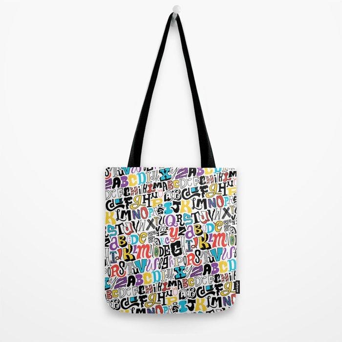 Alpha Pattern Tote Bag