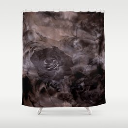 Shadows of Roses & Clouds Shower Curtain