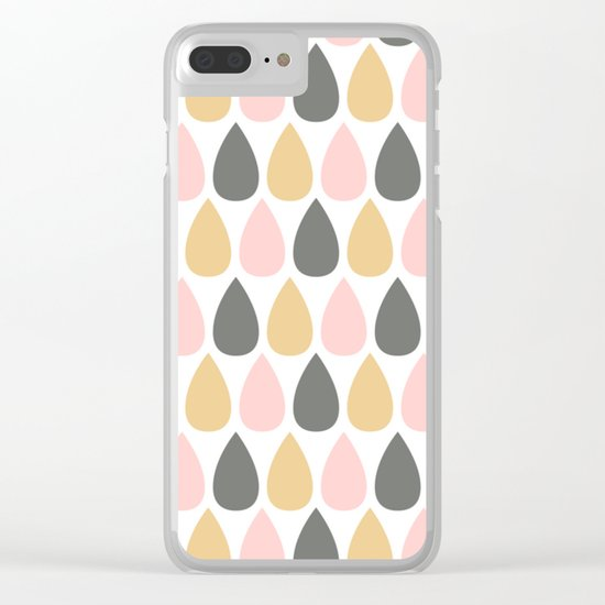 Pretty Rain Drops Clear iPhone Case