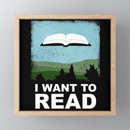 I Want to Read Framed Mini Art Print
