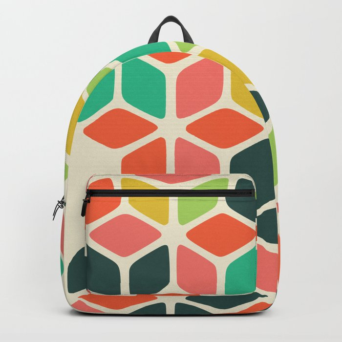 color honeycomb Backpack
