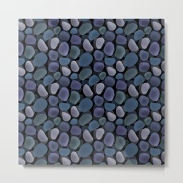 Abstract pattern . Sea stones .1 . Metal Print