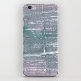 Roman silver abstract watercolor iPhone Skin