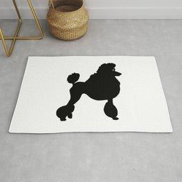Poodle Dog Breed black Silhouette Rug