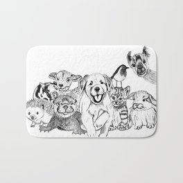 Happiness is animals Bath Mat