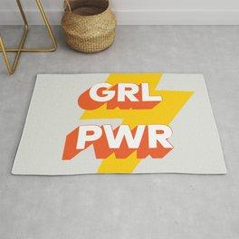 GRL PWR // in Orange Grey Rug