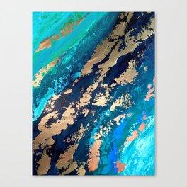 Monterey Emerald Bay Golden Abstract Canvas Print