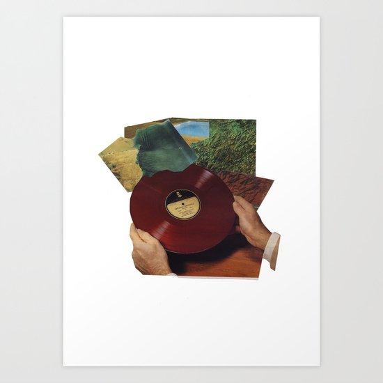 record mind Art Print
