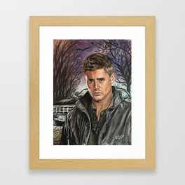 Dean  and Baby Framed Art Print