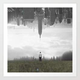 in my place Art Print