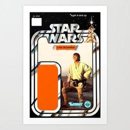 Luke Skywalker (farmboy) Vintage Action Figure Card Art Print