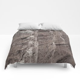 Erosion On The Cliff Comforters
