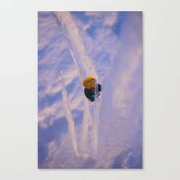 ice climbing gwerg Canvas Print