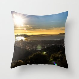 Bay Area View Throw Pillow