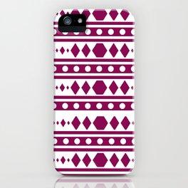 Marsala Tribal Pattern iPhone Case