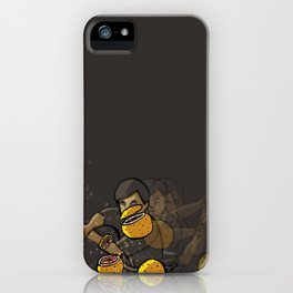 Grapefruit samurai iPhone Case