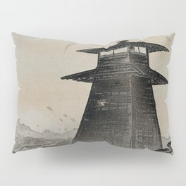 Japanese Woodcut Ogata, Gekkō, 1859-1920: Edo Kite Festival Pillow Sham