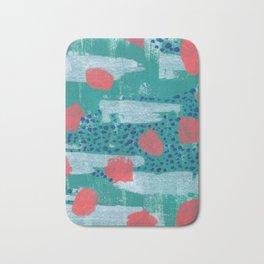 abstract coral Bath Mat