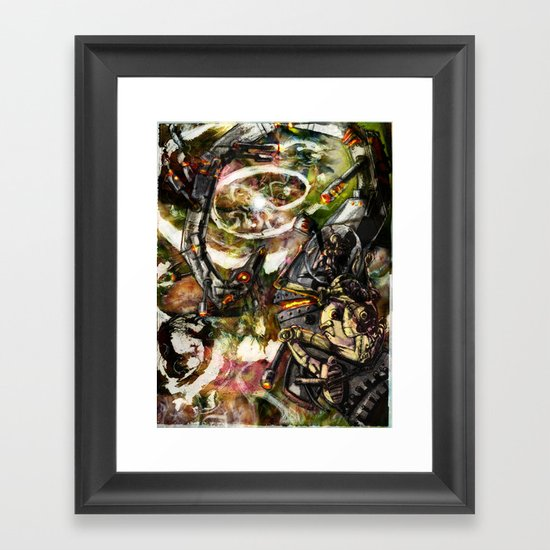 Riding a Nuclear Dragon into the Last Star in the Universe Framed Art Print