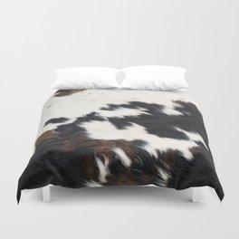 Brown Cowhide Duvet Cover