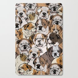 Social English Bulldog Cutting Board
