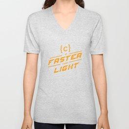 C is faster Unisex V-Neck