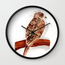 Watercolor Painting Swainson's Hawk Wall Clock