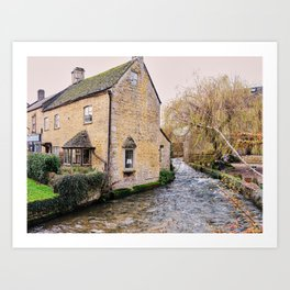 Charming Cotswolds Cottage England Art Print