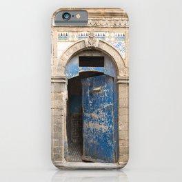 Ancient Blue Tiled Moroccan Door iPhone Case