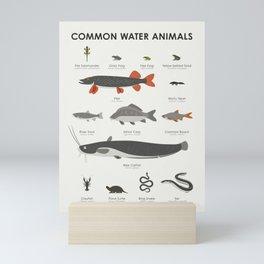 Common Water Animals Mini Art Print