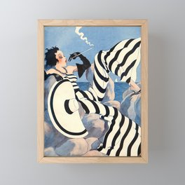 French Art Deco Woman Framed Mini Art Print