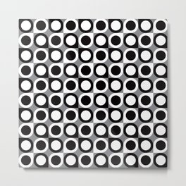 Geometric Pattern 193 (black gray circles) Metal Print