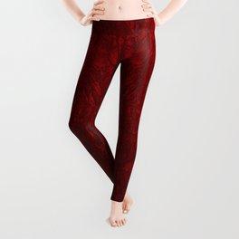 Red Crushed Velvet Leggings