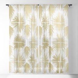 Radiate Gold Sheer Curtain