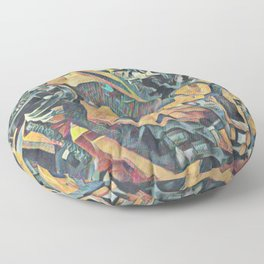Bumblebee Surprised Artistic Illustration Colored Pencils Lines Style Floor Pillow