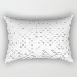 Grey square pattern background - vector illustration Rectangular Pillow