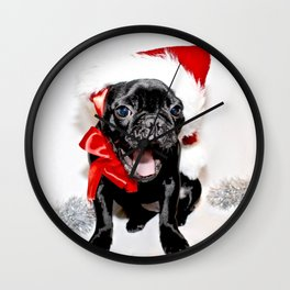 Xmas Frenchie II Wall Clock