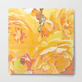 Rose in watercolor Metal Print