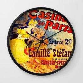 Vintage poster - Casino de Paris Wall Clock