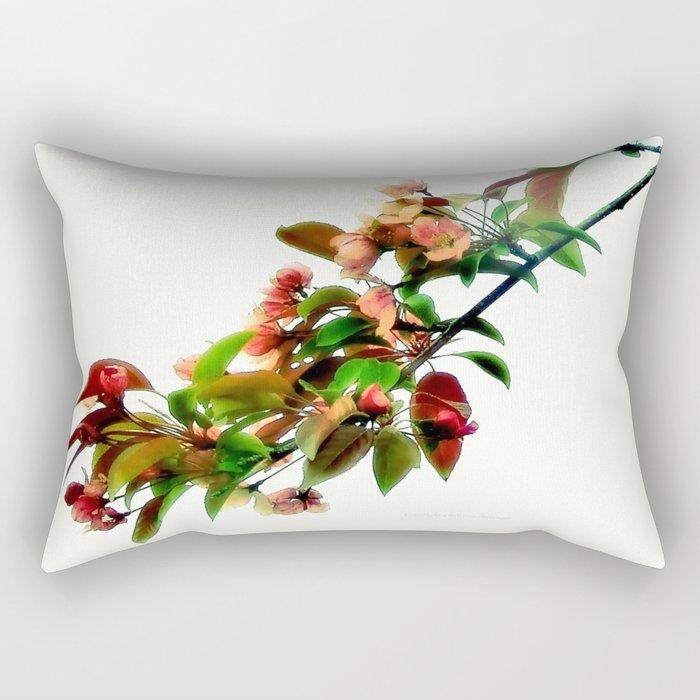 Crab Apple Blossoms Rectangular Pillow