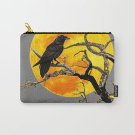 FULL MOON & RAVEN ON DEAD TREE Carry-All Pouch