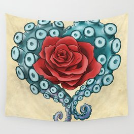 Octo Rose Love Wall Tapestry