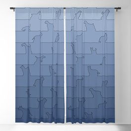 Blue Dog Ombre Blackout Curtain