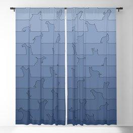 Blue Dog Ombre Blackout Curtain