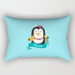 Penguin Hawaii from POLAND T-Shirt for all Ages Rectangular Pillow