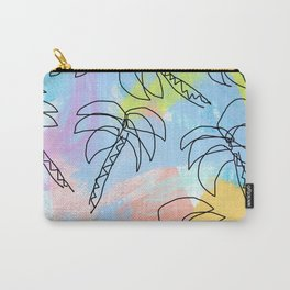 Live This Moment no.1 - illustration palm tree pattern summer tropical beach California pastel color Carry-All Pouch