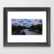 living on the canal Framed Art Print