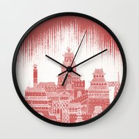 mars Wall Clocks featuring Mars by David Fleck