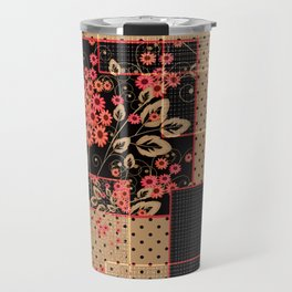 Abstract floral pattern Travel Mug