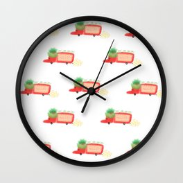 Red yeast pork truck Wall Clock